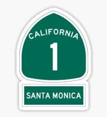 PCH - CA Highway 1 - Santa Monica Sticker