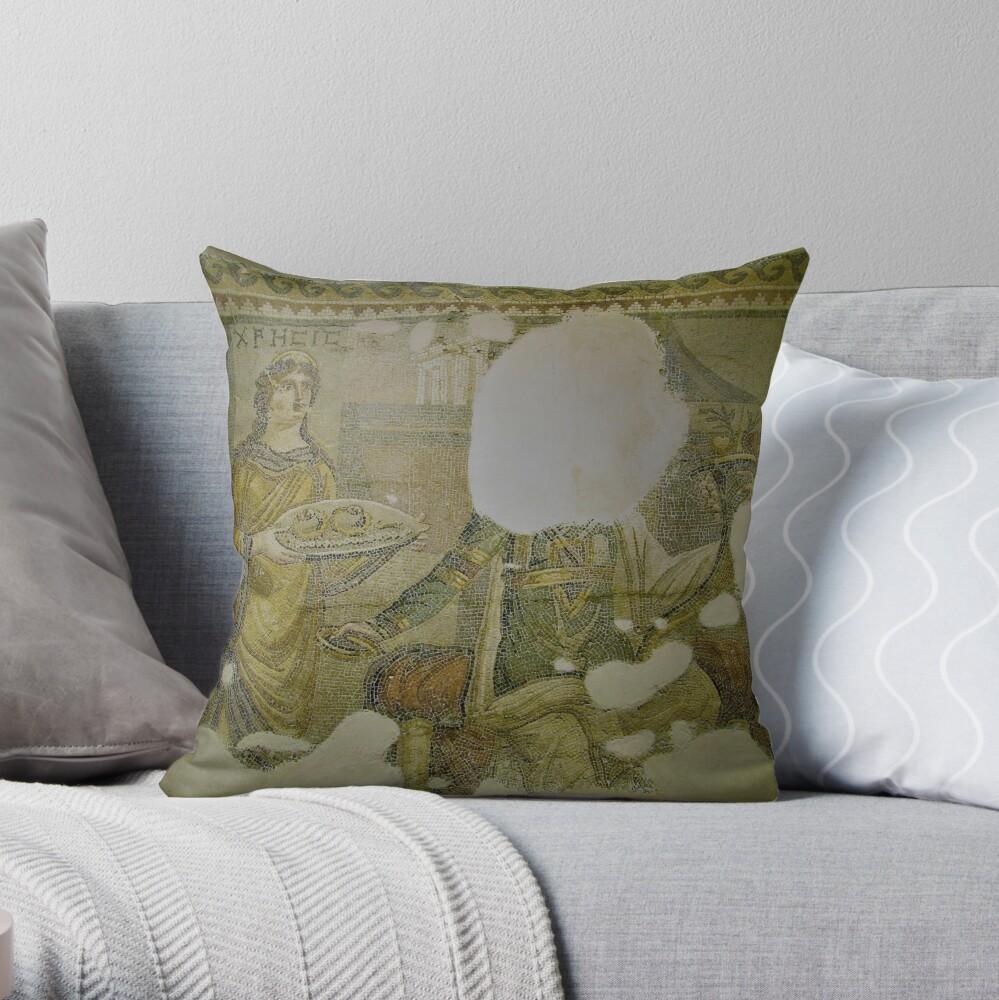 Mosaic of Chresis Throw Pillow