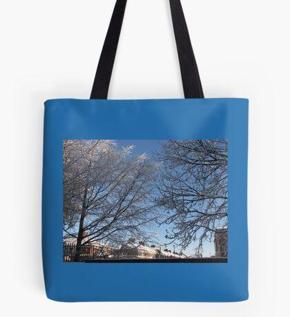 Winter Sonnenaufgang Tote Bag