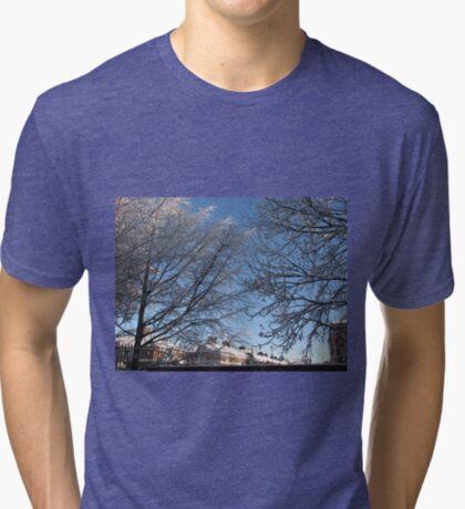 Winter Sonnenaufgang Vintage T-Shirt