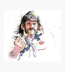 Lemmy. Lead singer of Motorhead. Photographic Print