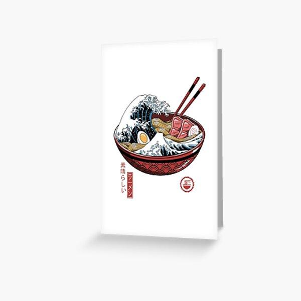 Great Ramen Wave White Greeting Card