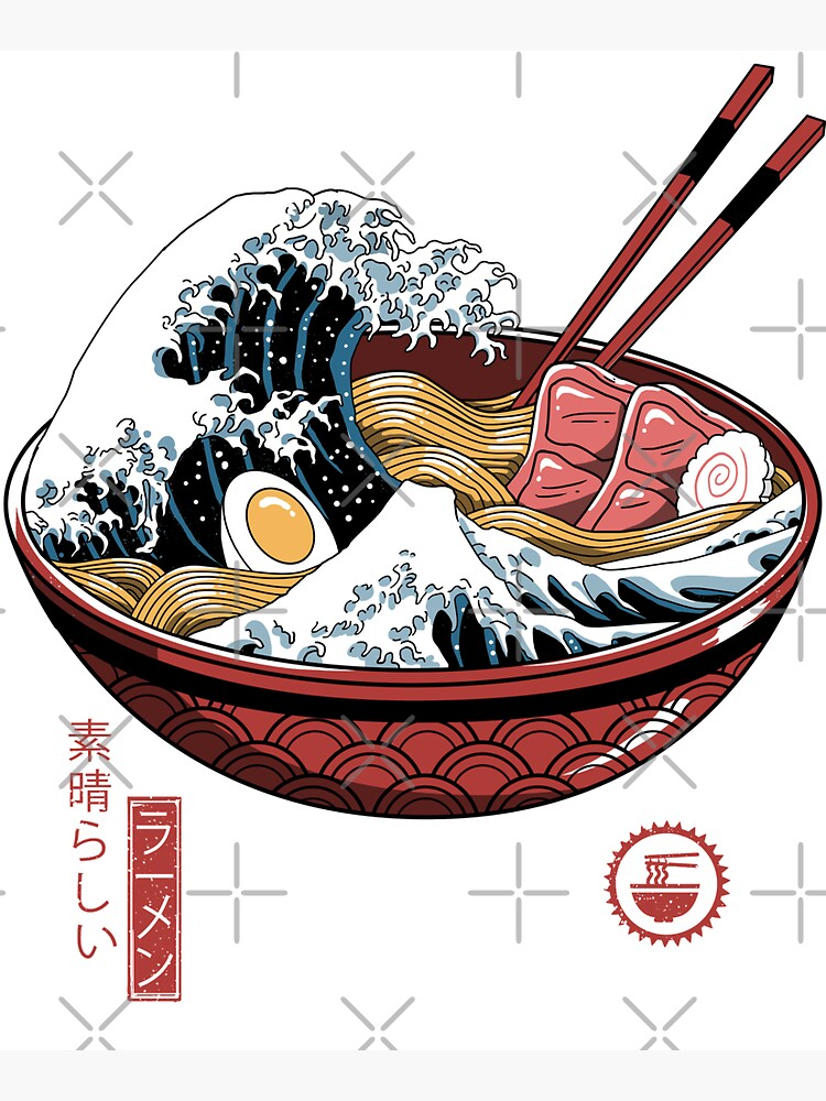 Great Ramen Wave White by vincenttrinidad