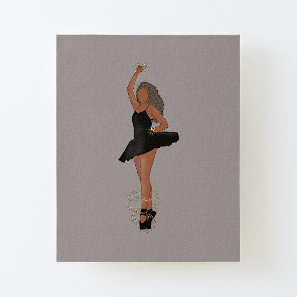 Black Ballerina Wall Art Redbubble