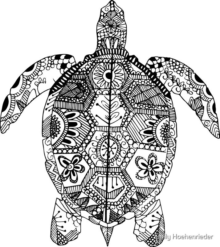 turtle zentangle photographic prints by emily hoehenrieder redbubble. Black Bedroom Furniture Sets. Home Design Ideas