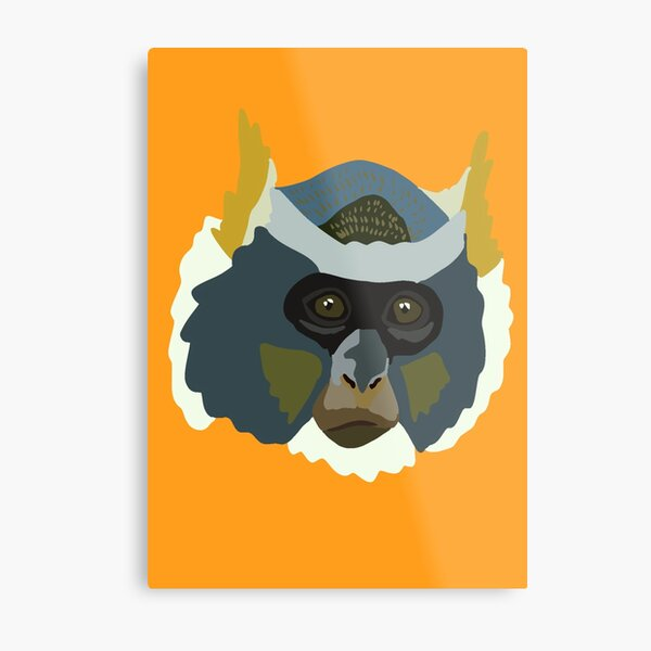 W is for Wolf's guenon  Metal Print