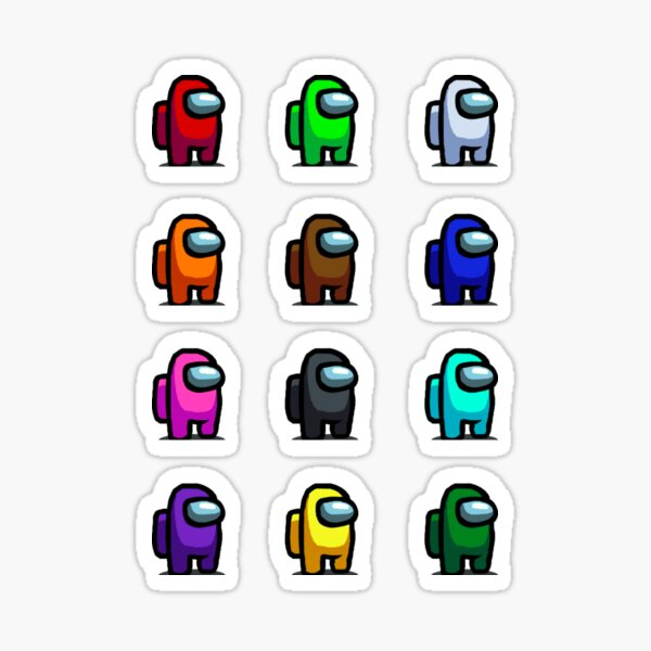 Among Us Full Crew mates Colour Pack Sticker
