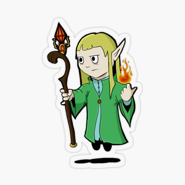 Emyr the Elf Transparent Sticker