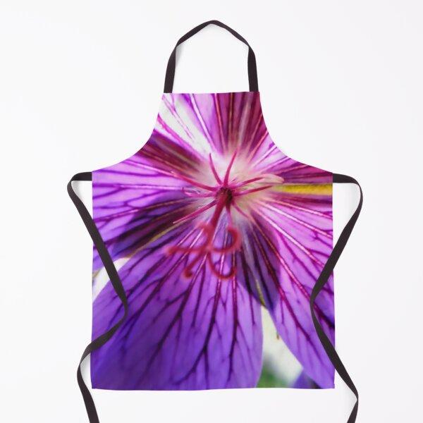 Inside a purple flower Macro photography Apron