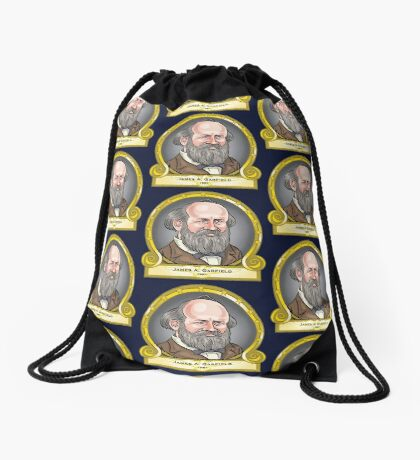 President James Garfield Drawstring Bag