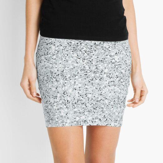seamless cool ice platinum grey repeat pattern Mini Skirt
