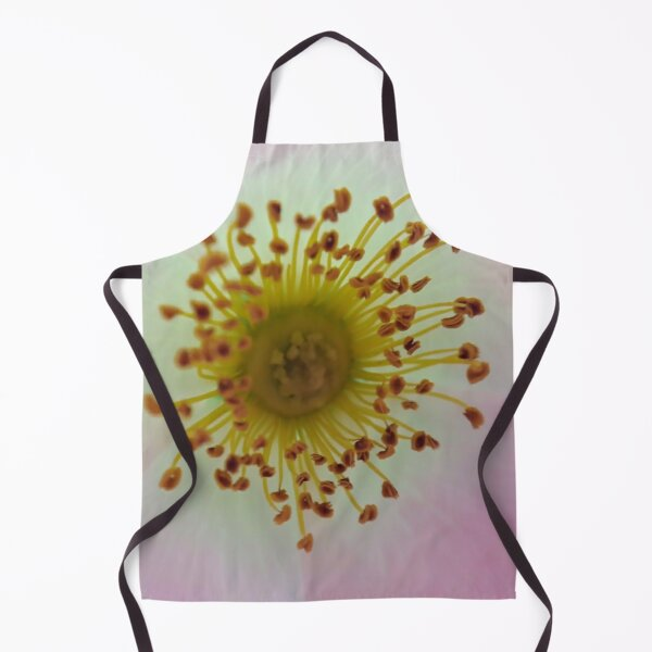 Inside a pink flower Macro photography Apron