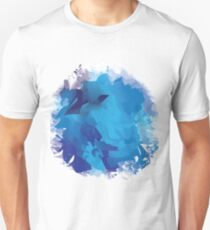Abstract Blue Circle Unisex T-Shirt