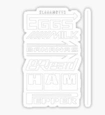 Shopping List - White Sticker