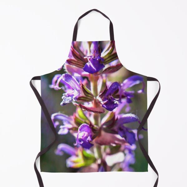 Sage Purple flower Macro photography Apron