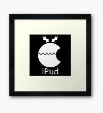 iPud Christmas Pudding Framed Print