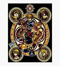 Kingdom Hearts Sora stained glass Photographic Print