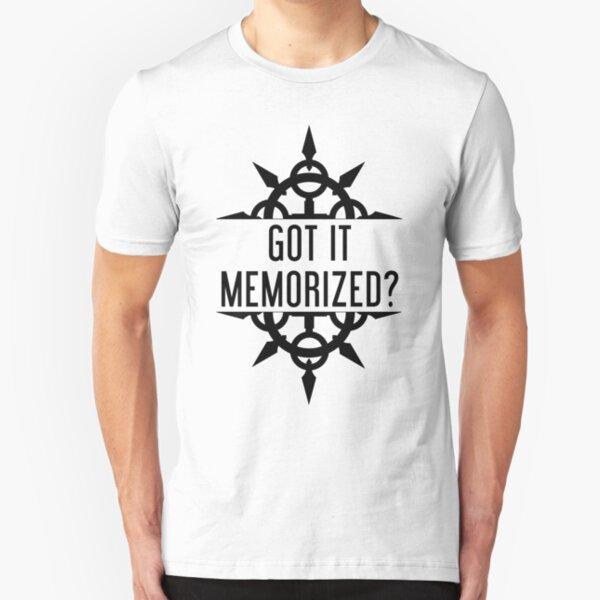 Got It Memorized? - Black Slim Fit T-Shirt