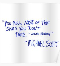The Office Michael Scott quote Poster