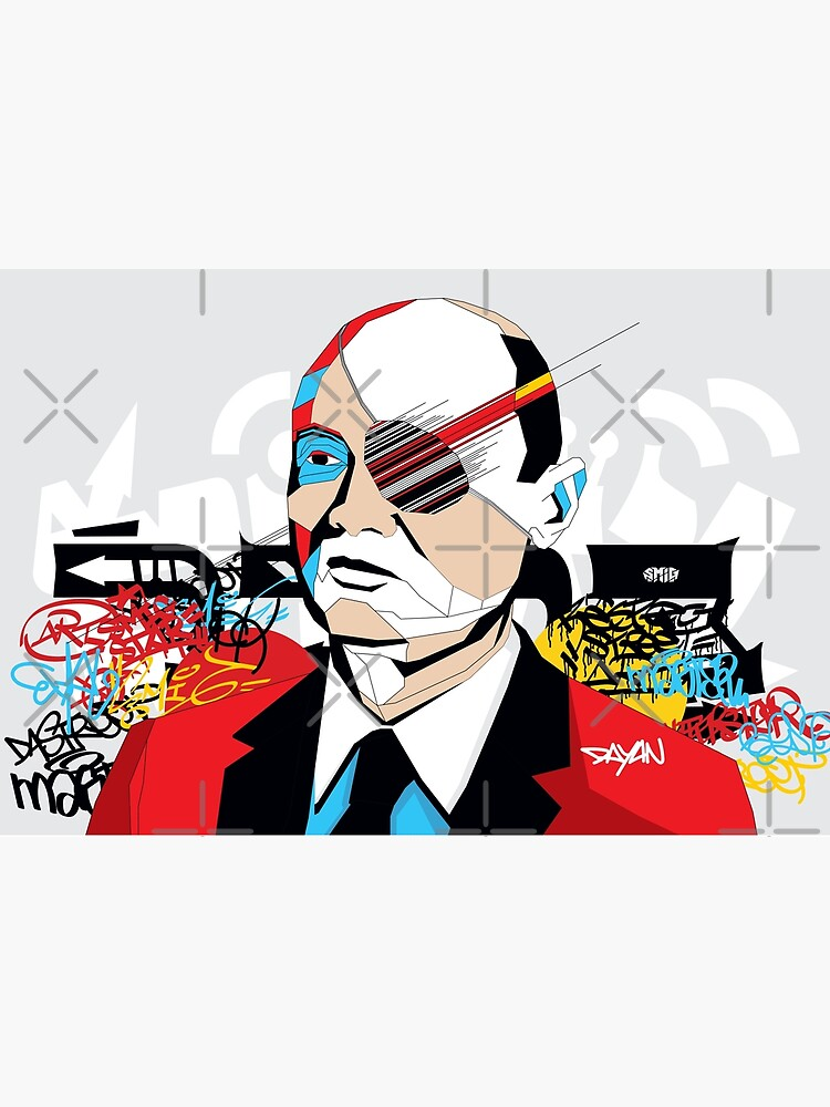 Moshe Dayan - Pop Art Israeli leader by SMIGONLINE