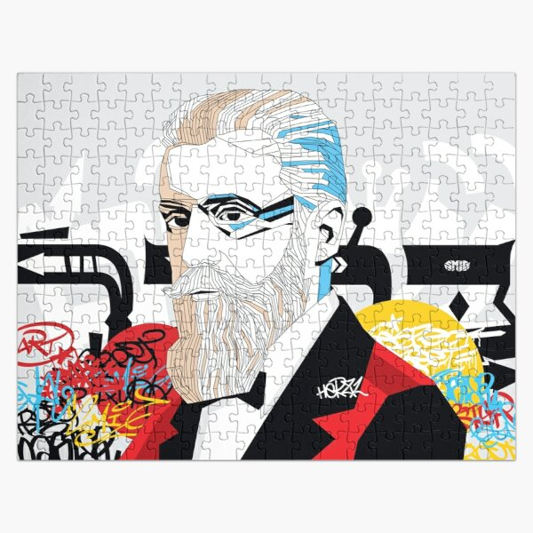 Theodor Herzl portrait  - Pop Art Israeli leader Jigsaw Puzzle