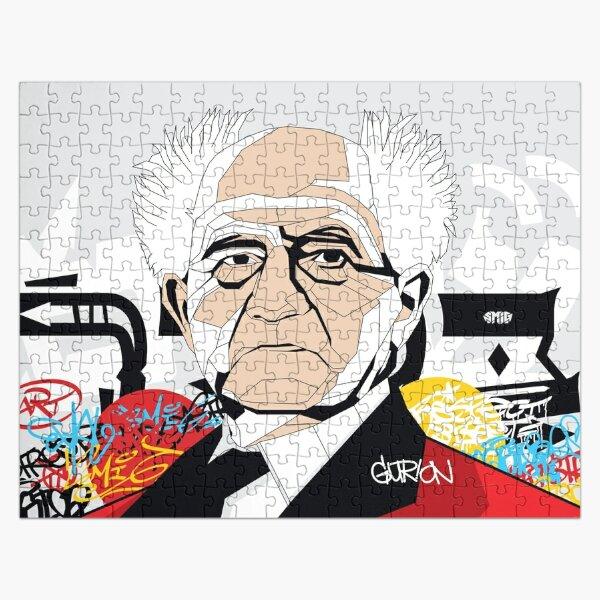 David Ben-Gurion portrait - Pop Art Israeli leader Jigsaw Puzzle