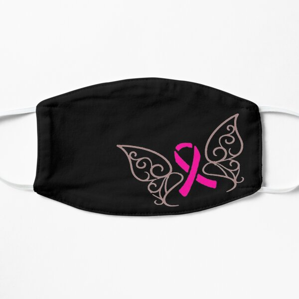 Breast Cancer Butterfly Face Mask | Cancer Awareness Mask | Breast Cancer Awareness Face Mask | Pink Ribbon | Reusable Masks | Washable Mask Mask