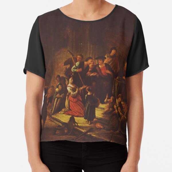 Painting of the parable, by Patrick Paearz de Wet, mid-17th century Chiffon Top
