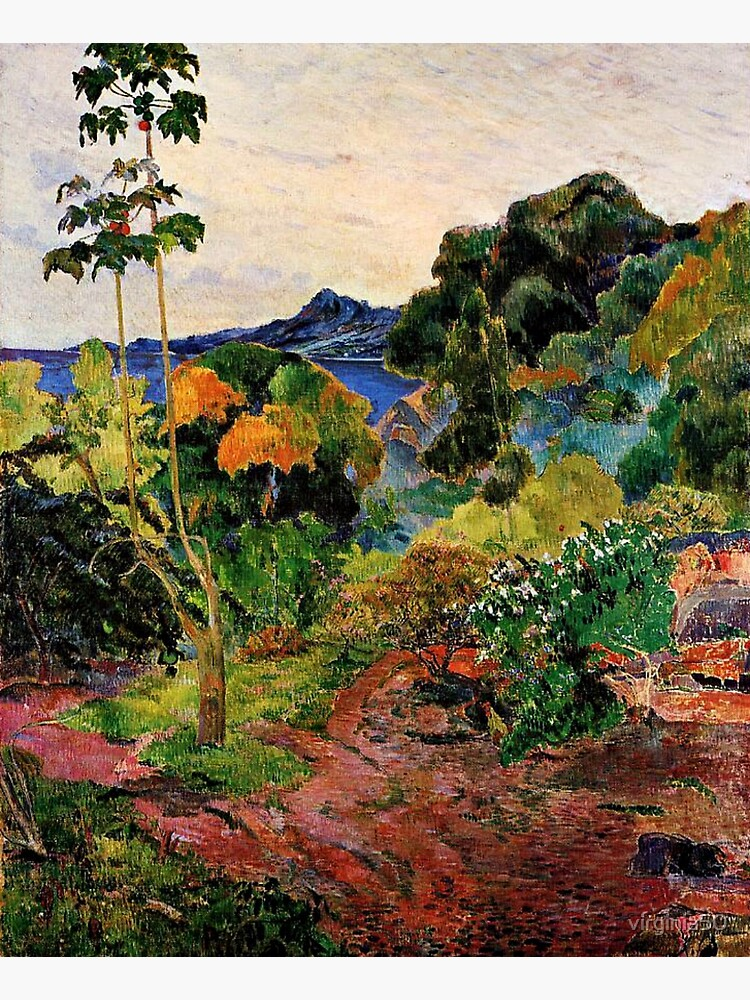 Gauguin - Martinique Landscape, beautiful tropical painting by virginia50
