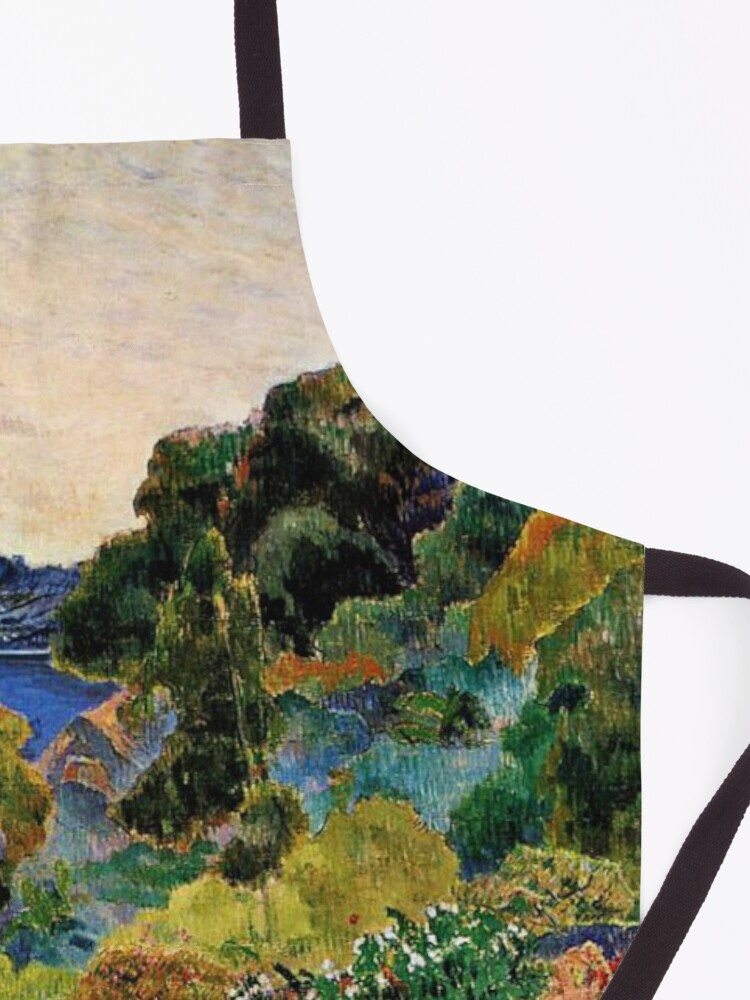 Alternate view of Gauguin - Martinique Landscape, beautiful tropical painting Apron