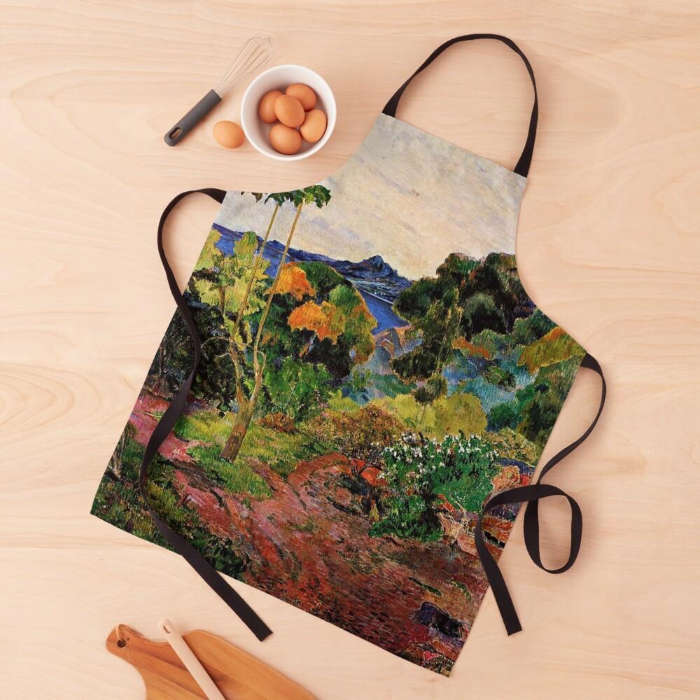 Gauguin - Martinique Landscape, beautiful tropical painting Apron