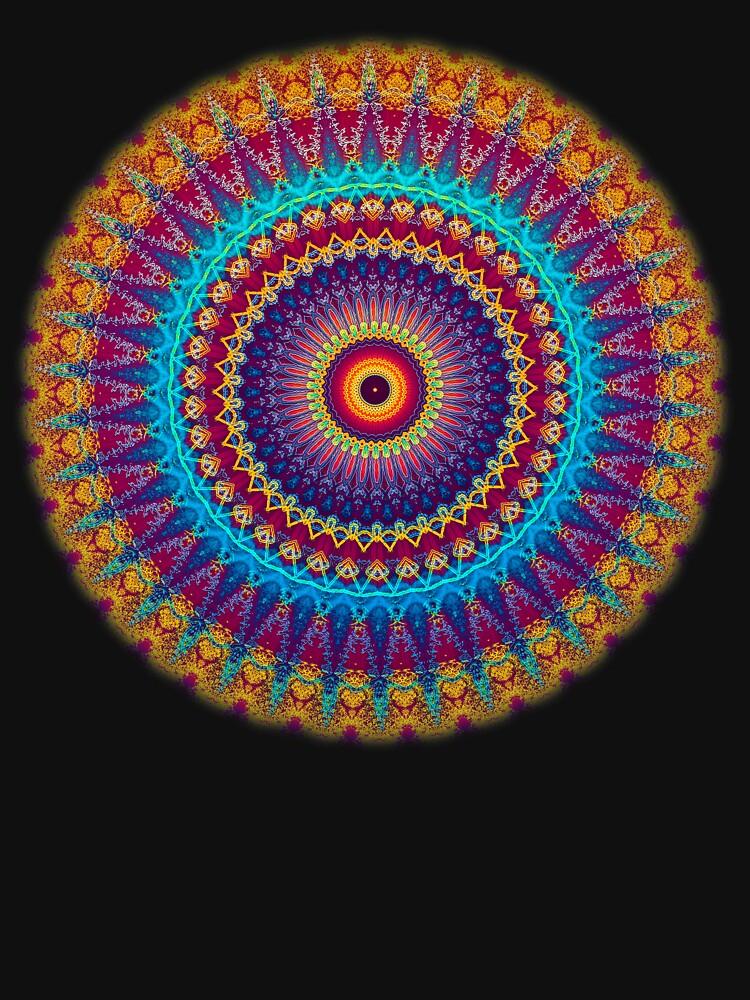 Fire and Ice Mandala by InspiraImage