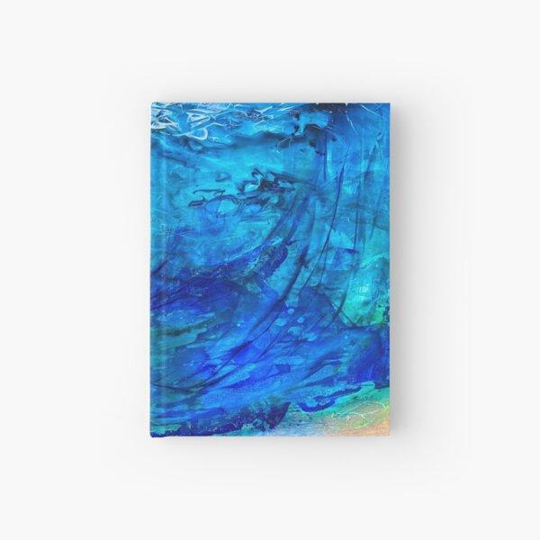 Water as rain ocean clouds Hardcover Journal