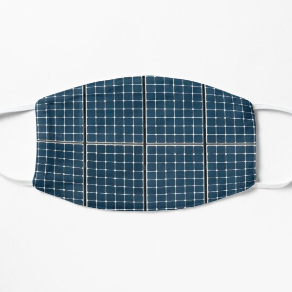 Solar panelling on a house. Flat Mask