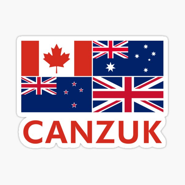 Canzuk flags graphic Sticker