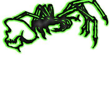 Grotesque Bones II black and green by ErnstderLage
