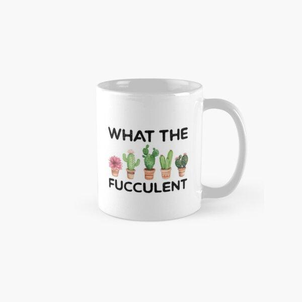What the Fucculent Cactus Succulents Plants Gardening Gift Vintage Retro Classic Mug
