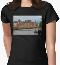 Dublin On The River Liffey Womens Fitted T-Shirt