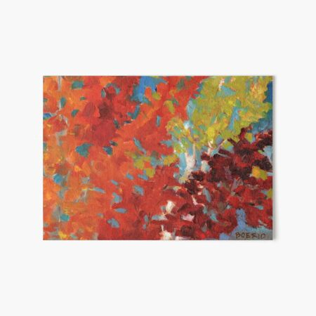 Fall leaves in yellow orange and red Art Board Print