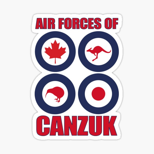 Air Forces of CANZUK roundels graphic Sticker