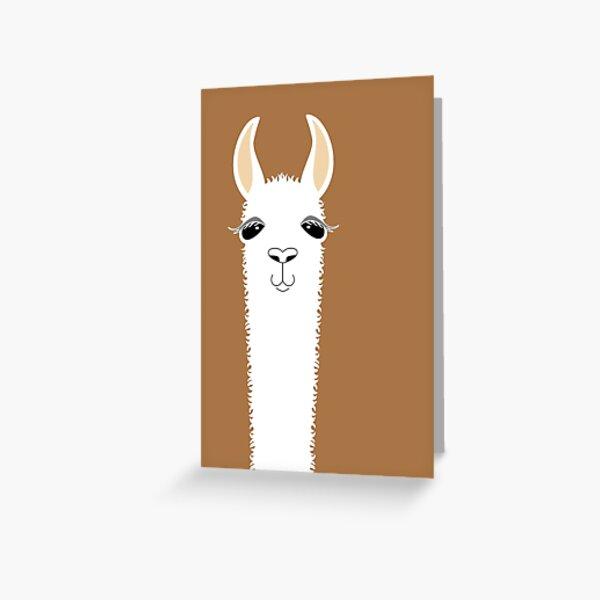 LLAMA PORTRAIT #9 Greeting Card