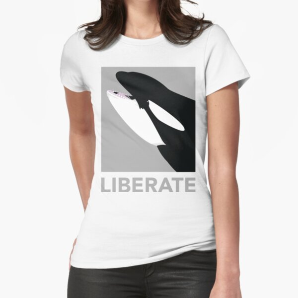 Liberate (Orca) Fitted T-Shirt