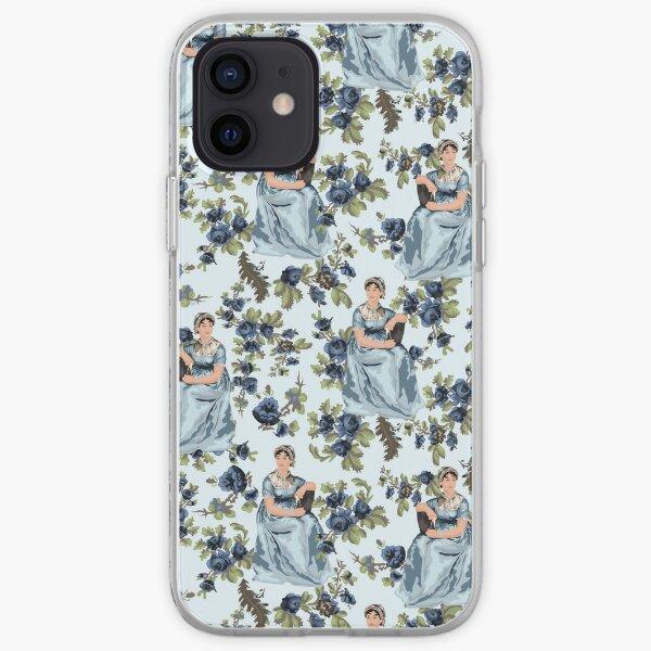 Jane Austen Floral Print iPhone Soft Case