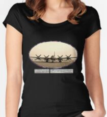 Ghost Squadron B-29 Bomber Women's Fitted Scoop T-Shirt
