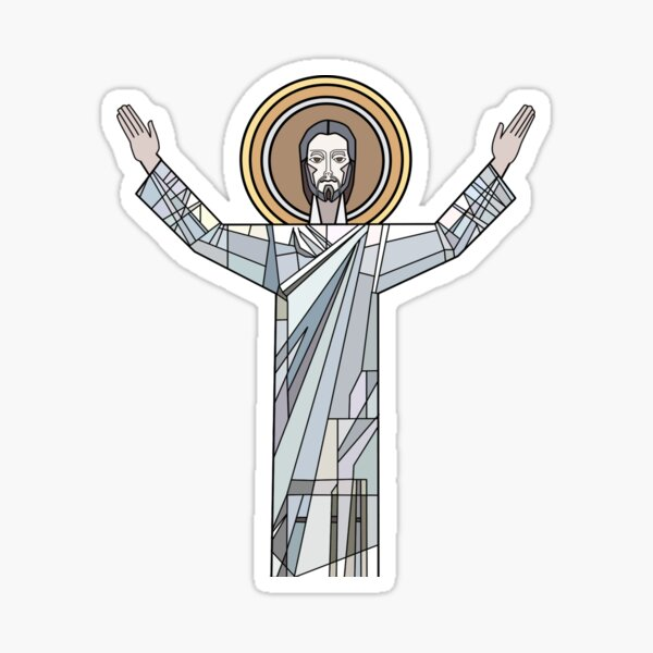 Touchdown Jesus  Sticker