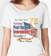 Pearl Harbor Day 75th Anniversary Logo Women's Relaxed Fit T-Shirt