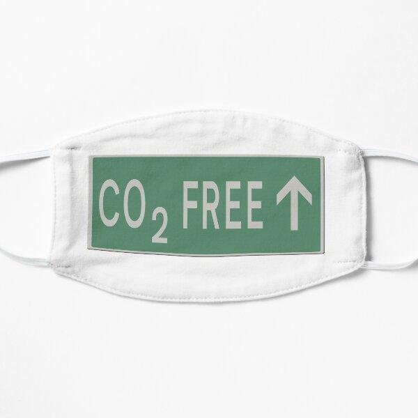 CO2 freies zukünftiges Verkehrsschild Flache Maske