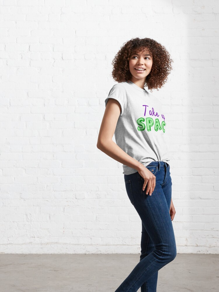 Alternate view of Take Up Space Fat Acceptance Classic T-Shirt