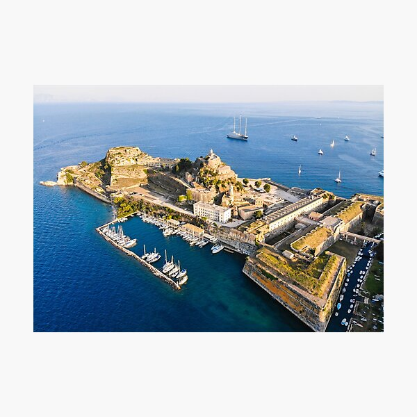 The old Fortress of Corfu Kerkira Photographic Print