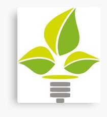 Eco Lightbulb Canvas Print